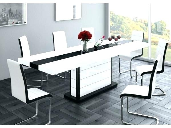 Black Gloss Dining Table And Chairs Marvelous Grey Gloss Dining Inside Black Gloss Dining Tables (Image 5 of 25)