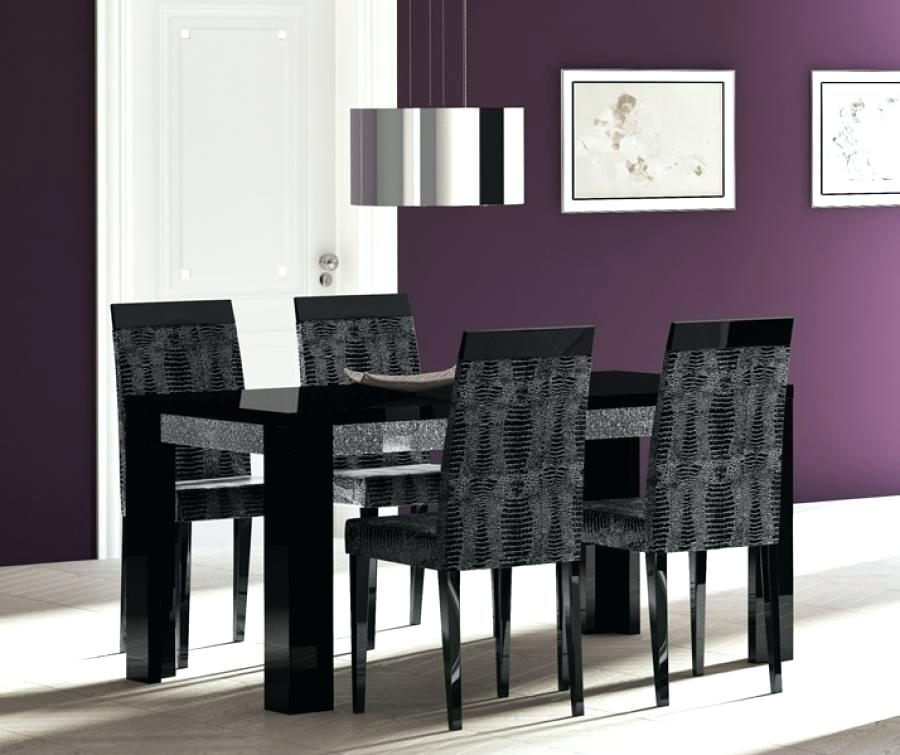 Black High Gloss Dining Table Black Glass High Gloss Dining Table With Regard To Black High Gloss Dining Tables And Chairs (Image 3 of 25)