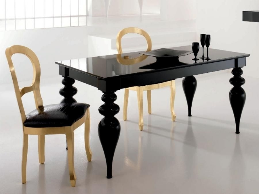 Black High Gloss Dining Table – Google Search | Dinner Is Served Inside Black Gloss Dining Room Furniture (Image 4 of 25)