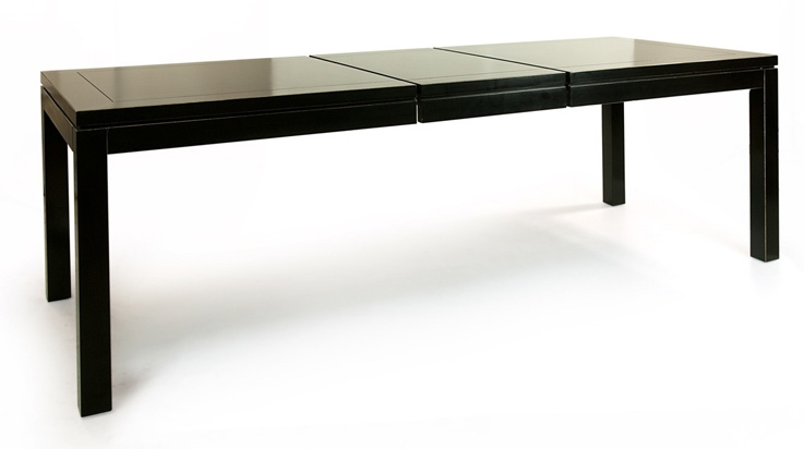 Black Lacquer Extending Dining Table | Dining Tables Throughout Black Extending Dining Tables (Image 6 of 25)