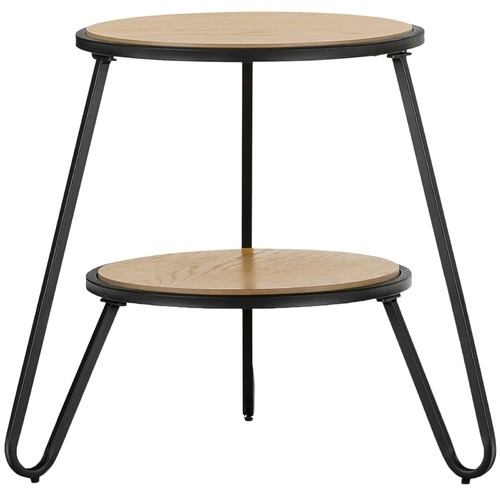 Black Macy Round Side Table | Temple & Webster With Regard To Macie Round Dining Tables (Image 3 of 25)