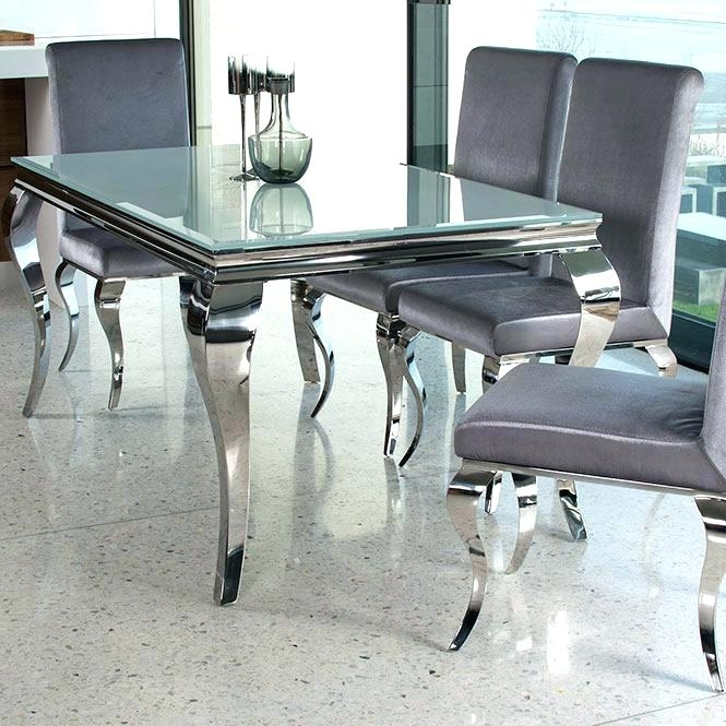 Black Round Kitchen Table – Nutritionsolutions Pertaining To Glass And Chrome Dining Tables And Chairs (Image 9 of 25)