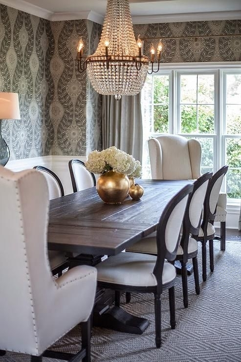 Black Salvaged Wood Dining Table, Restoration Hardware Salvaged Wood Within Market 7 Piece Dining Sets With Host And Side Chairs (Image 6 of 25)