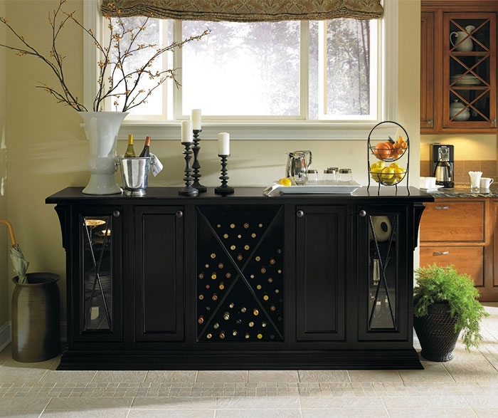 Black Storage Cabinet In Dining Room – Omega Throughout Dining Room Cabinets (Image 9 of 25)