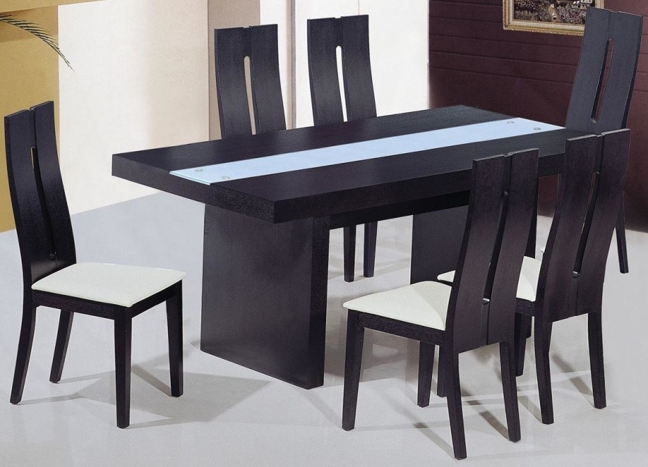Black Wood Dining Table – Decordiva Interiors Intended For Black Wood Dining Tables Sets (Image 6 of 25)