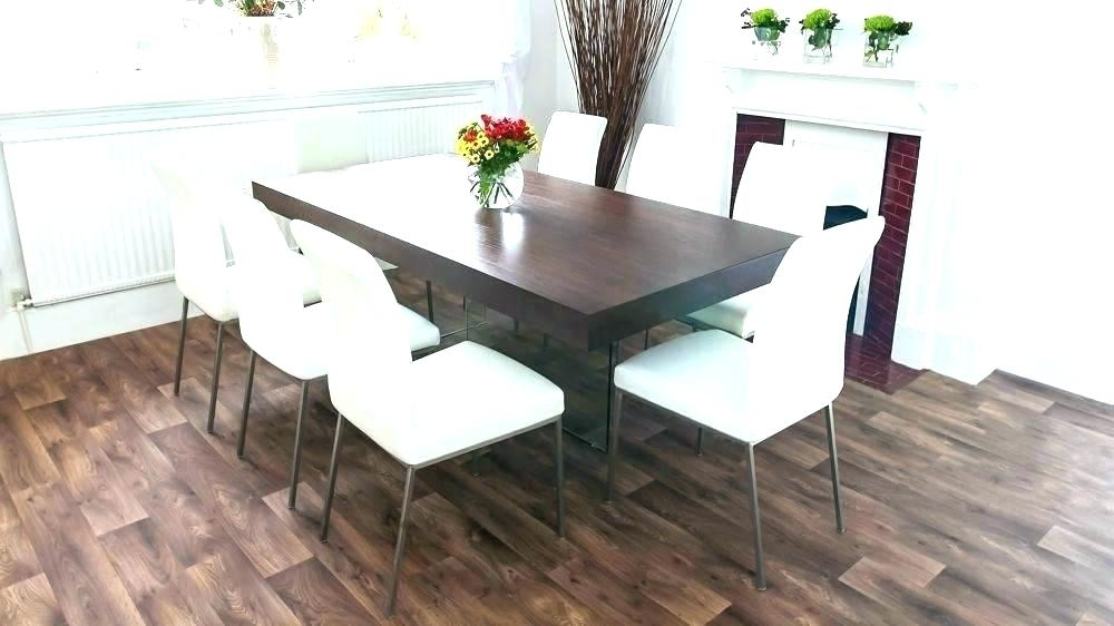 Black Wood Dining Table Room Sets With Colored Chairs And Dark Intended For Dark Wood Dining Tables And 6 Chairs (Image 4 of 25)