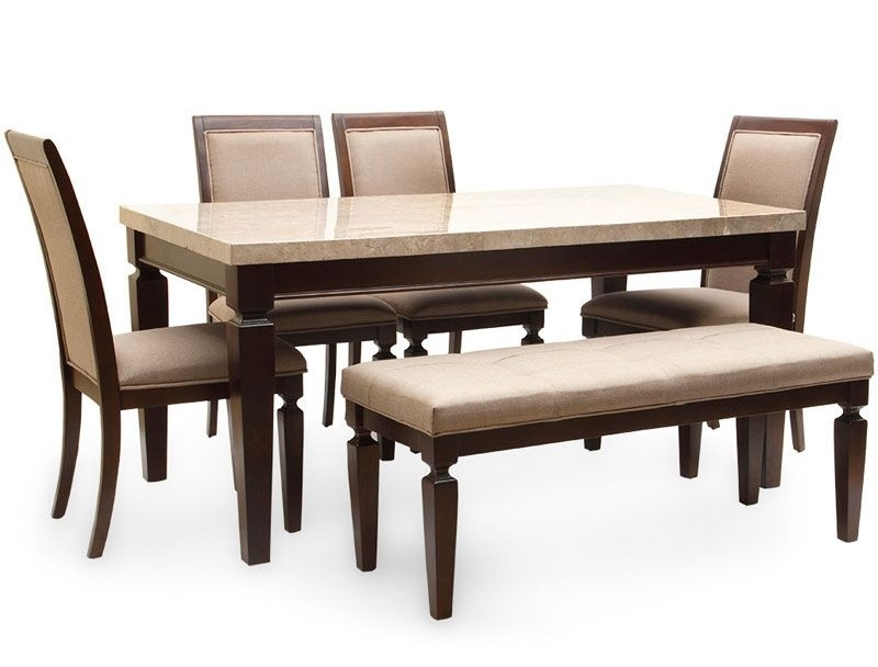 Bliss Marble Top Six Seater Dining Table By Hometown Bliss Marble Regarding Six Seater Dining Tables (Image 6 of 25)