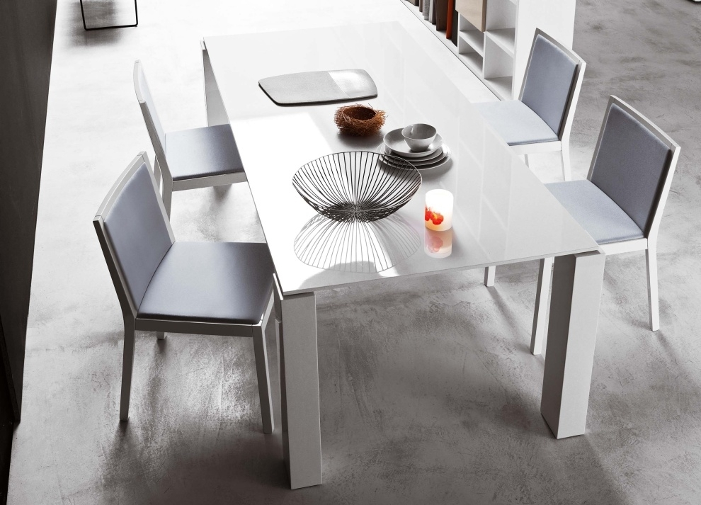 Block White Dining Table | Dining Furniture | Dining Tables | Modern Intended For White Dining Tables (Image 4 of 25)