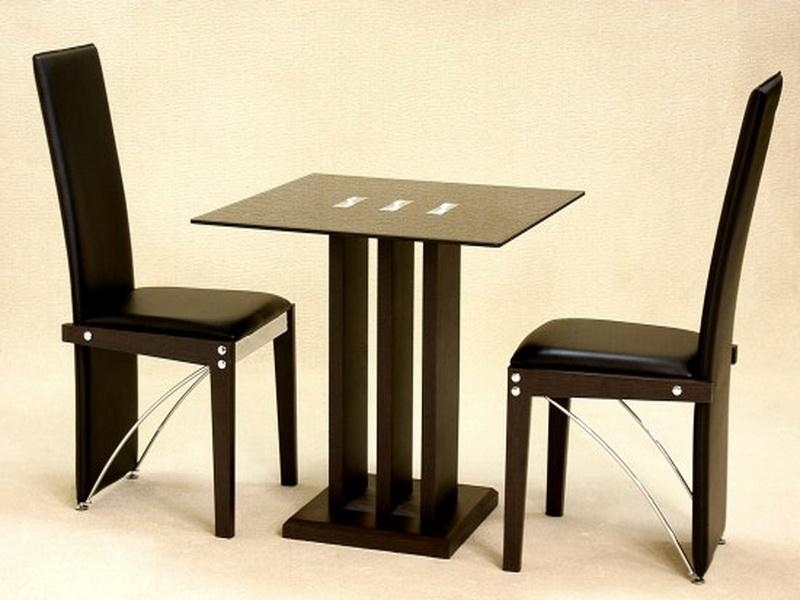 Bloombety Small Kitchen Dining Table And 2 Chairs Small With Regard To Dining Tables And Chairs For Two (Image 5 of 25)