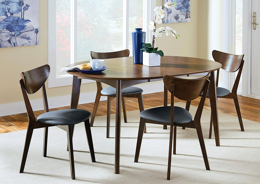 Blt Furniture Walnut Dining Table W/6 Chairs Within Walnut Dining Table And 6 Chairs (Image 7 of 25)