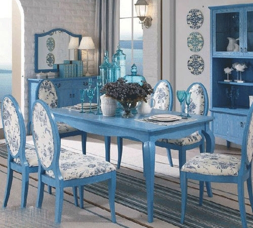 Blue Dining Table And Chairs | Dining Chairs Design Ideas & Dining Pertaining To Blue Dining Tables (View 4 of 25)