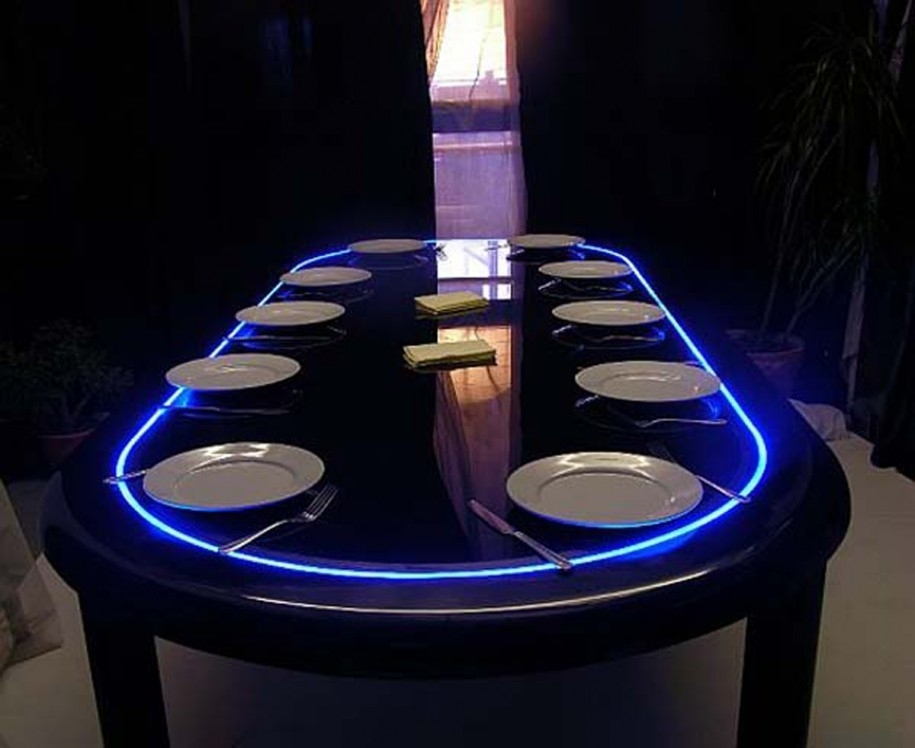 Blue Led Dining Table Lights — Room Decors And Design : Best Led For Led Dining Tables Lights (Image 6 of 25)