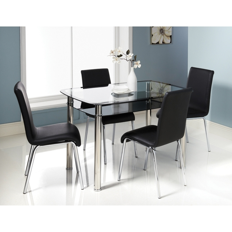 B&m Boston Dining Set – 309045 | B&m Regarding Cheap Dining Sets (View 9 of 25)