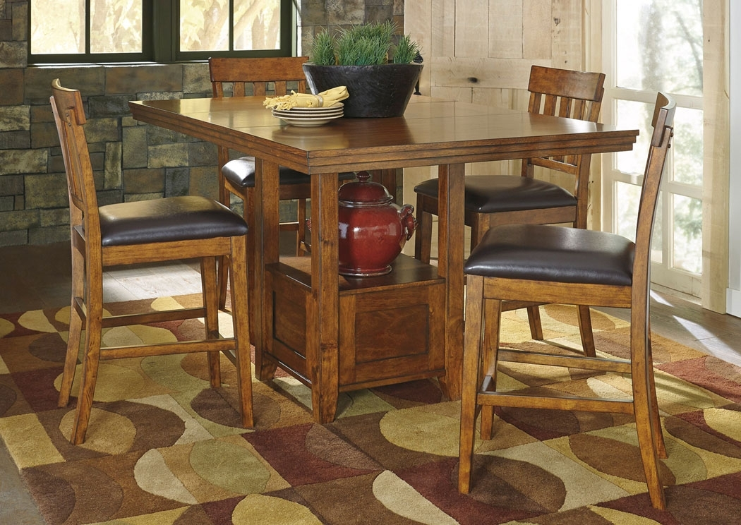 Bob Hoch's Home Furnishings – Lebanon, Pa Ralene Rectangular Counter Within Jaxon 5 Piece Extension Counter Sets With Fabric Stools (Image 7 of 25)