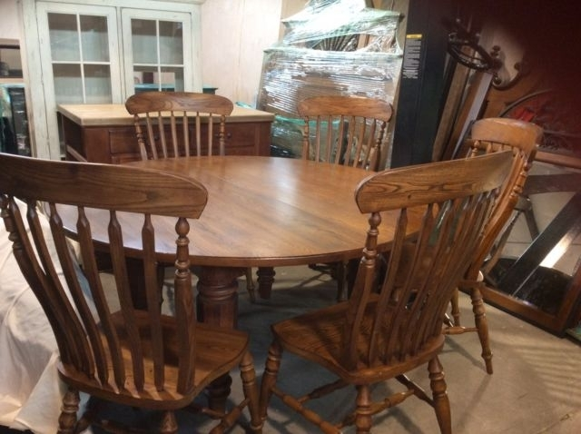 Bob Timberlake Solid Oak 60 In Round Dining Table W 6 Chairs For For Solid Oak Dining Tables And 6 Chairs (View 22 of 25)