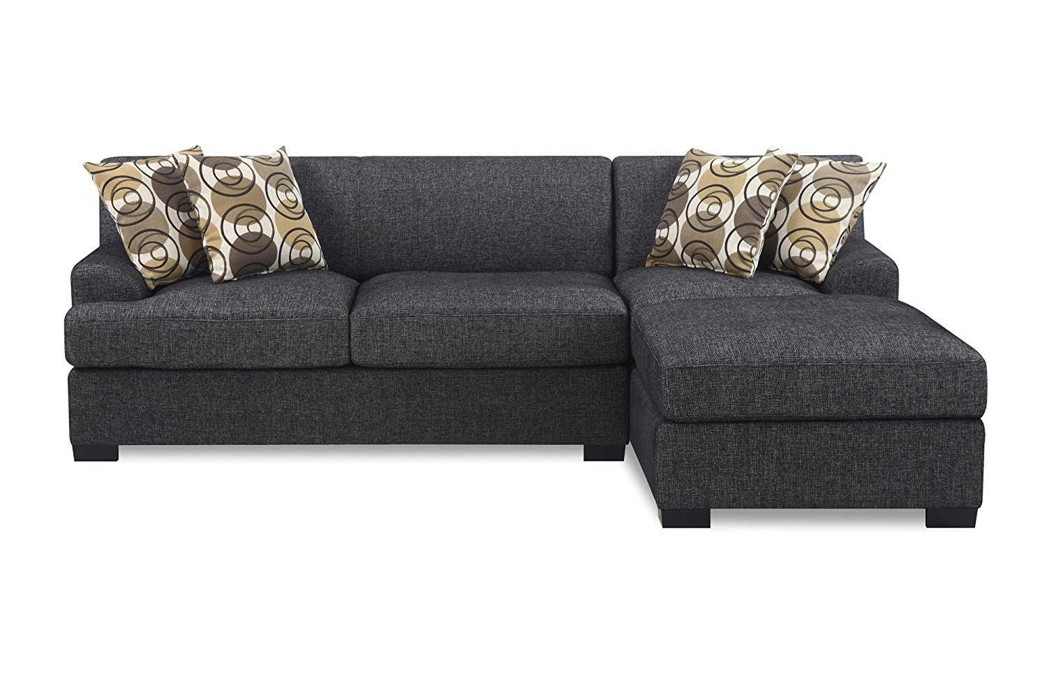 Bobkona Benford Piece Chaise Loveseat Sectional Sofa Couch With In Evan 2 Piece Sectionals With Raf Chaise (Image 6 of 25)