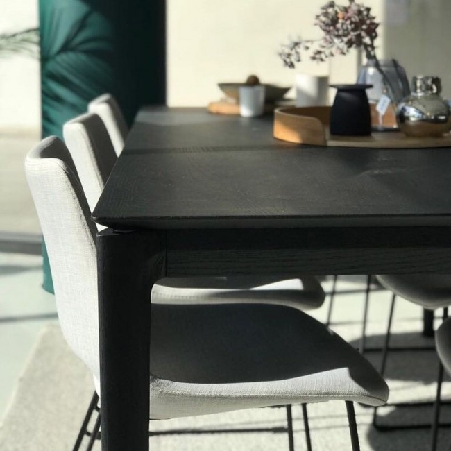 Bok Dining Tableethnicraft Oak | Clickon Furniture With Black Dining Tables (Image 10 of 25)