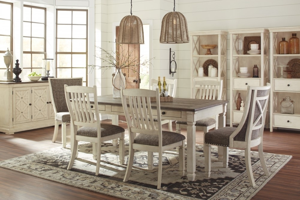 Bolanburg Rect Dining Table & 6 Uph Side Chairs | D647/25/01(4)/02(2 Throughout Market 6 Piece Dining Sets With Side Chairs (Image 5 of 25)