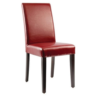 Bolero Faux Leather Dining Chairs Red (Pack Of 2) – Gh443 – Buy With Regard To Leather Dining Chairs (View 24 of 25)