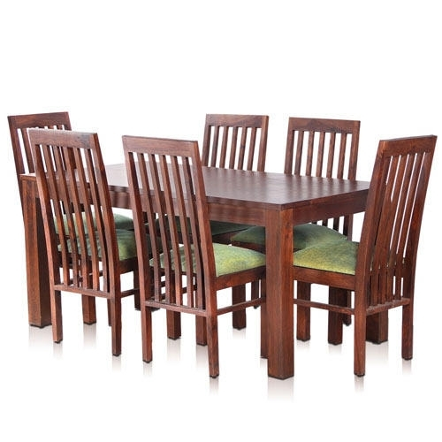 Bombay Solid Wood Dining Table With 6 Chairs – Mynesthome Dot Com Inside 6 Chairs And Dining Tables (Image 11 of 25)
