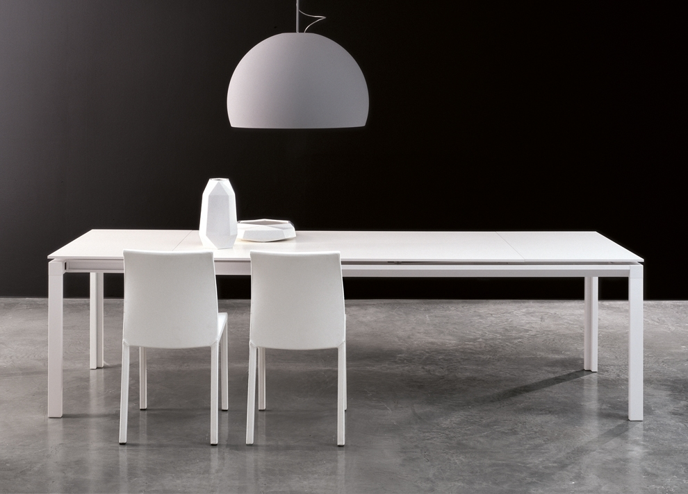 Bonaldo Chat Double Extending Dining Table – Modern Extending Tables Pertaining To White Extending Dining Tables (Image 4 of 25)