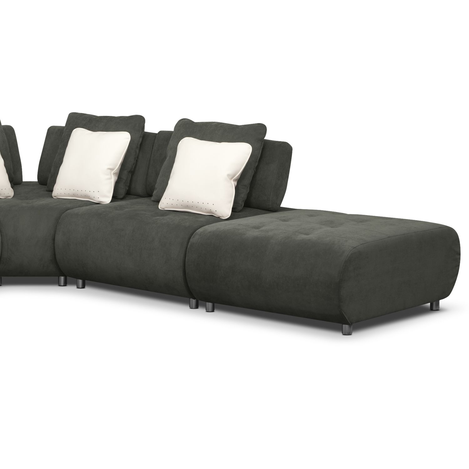 Bongo 5 Piece Sectional | Value City Furniture | Living Room Regarding Marcus Chocolate 6 Piece Sectionals With Power Headrest And Usb (Image 3 of 25)