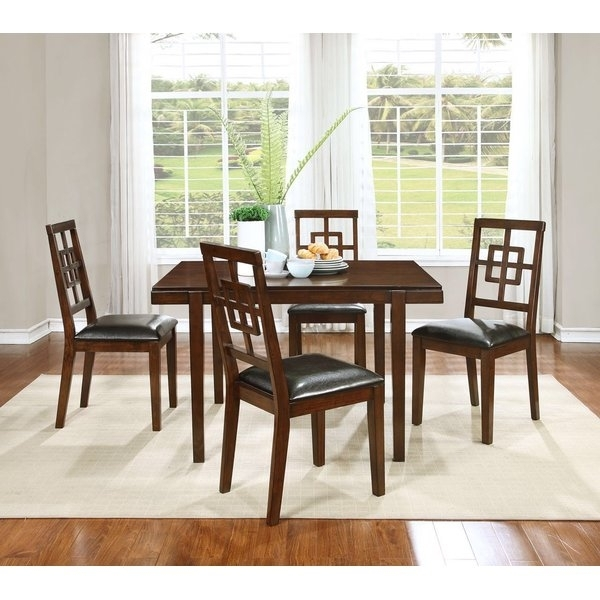 Boraam Cherry Dining Set | Wayfair Regarding Candice Ii 7 Piece Extension Rectangular Dining Sets With Slat Back Side Chairs (View 4 of 25)
