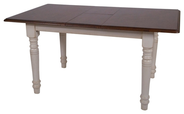Bordeaux Butterfly Table, Antique White With Chestnut Top With Bordeaux Dining Tables (Image 7 of 25)