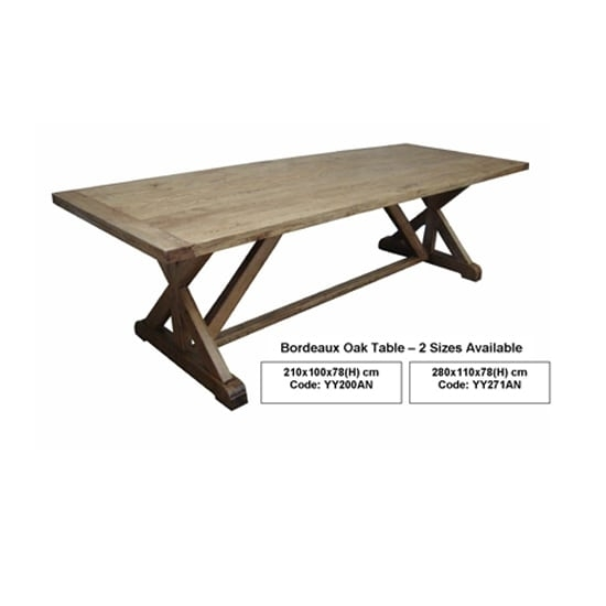 Bordeaux Oak Dining Table – Insideout With Bordeaux Dining Tables (View 12 of 25)