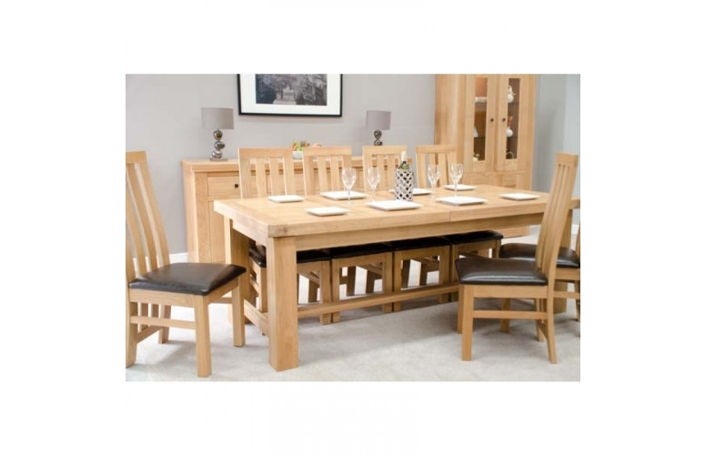Bordeaux Oak Grand 220 Dining Table | Furniture4Yourhome Inside Bordeaux Dining Tables (View 14 of 25)
