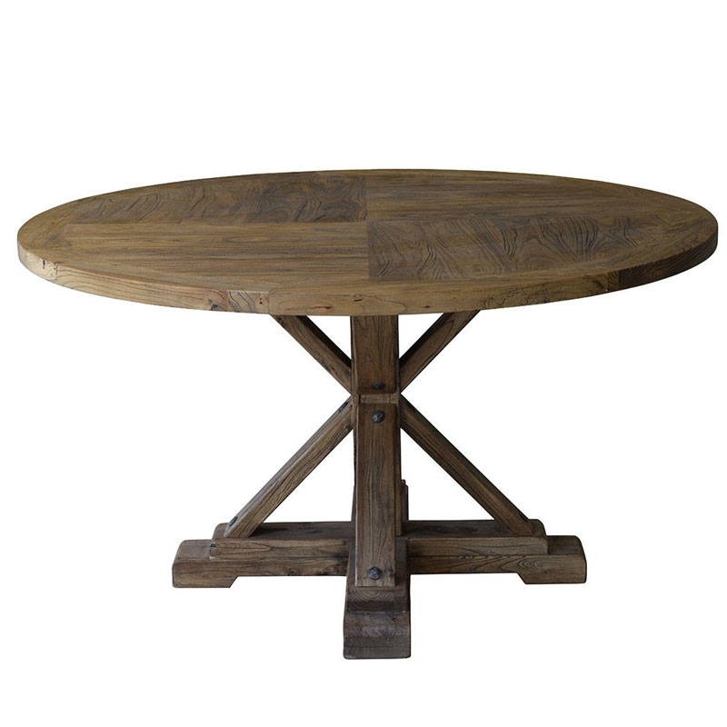 Bordeaux Reclaimed Elm Round Dining Table | Round Table | Dining Table With Regard To Bordeaux Dining Tables (Image 18 of 25)