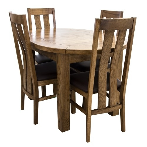 Bordeaux Small D End Dining Table & Four Chairs With Regard To Bordeaux Dining Tables (Image 21 of 25)