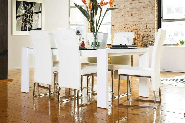 Bosco 7 Piece Dining Suiteinsato Furniture   Harvey Norman New With White Dining Suites (Image 3 of 25)