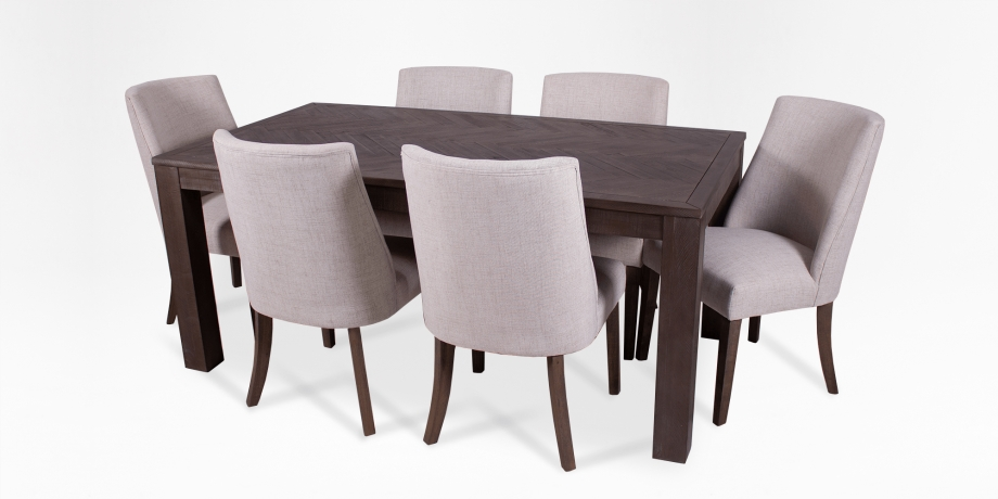 Boston Dining Table + 2 Palace Dining Chair (Grey) + 2 Boston With Mayfair Dining Tables (Image 4 of 25)