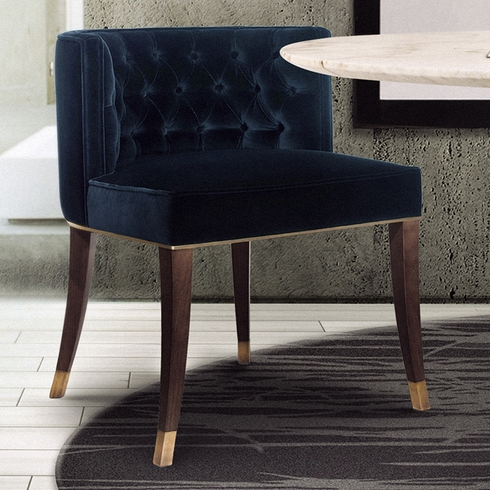 Bourbon Velvet Dining Chair – Robson Furniture Inside Velvet Dining Chairs (Image 9 of 25)