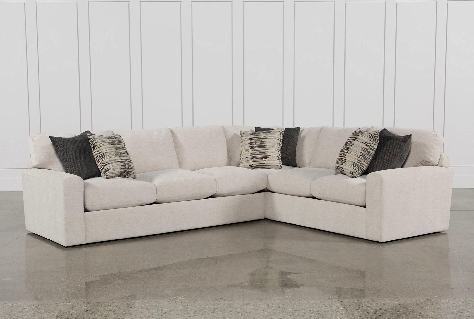 Bowen 2 Piece Sectional, White, Sofas   Living Rooms, Sinks And Room With Adeline 3 Piece Sectionals (Image 8 of 25)