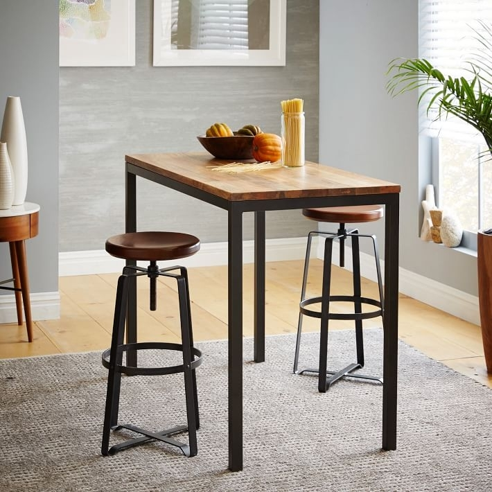 Box Frame Counter Table – Wood | West Elm Inside Mango Wood/iron Dining Tables (View 17 of 25)