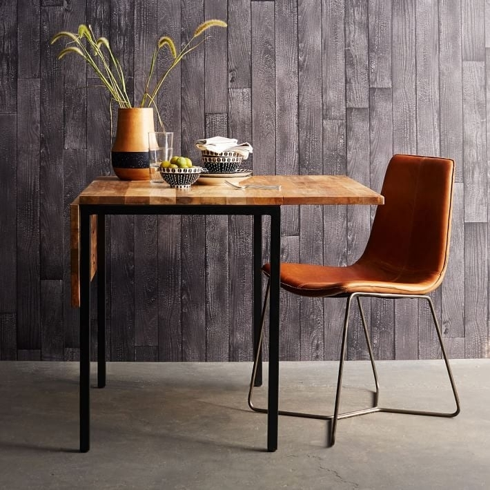 Box Frame Drop Leaf Expandable Table ($499)   Affordable Dining Inside Drop Leaf Extendable Dining Tables (Image 3 of 25)