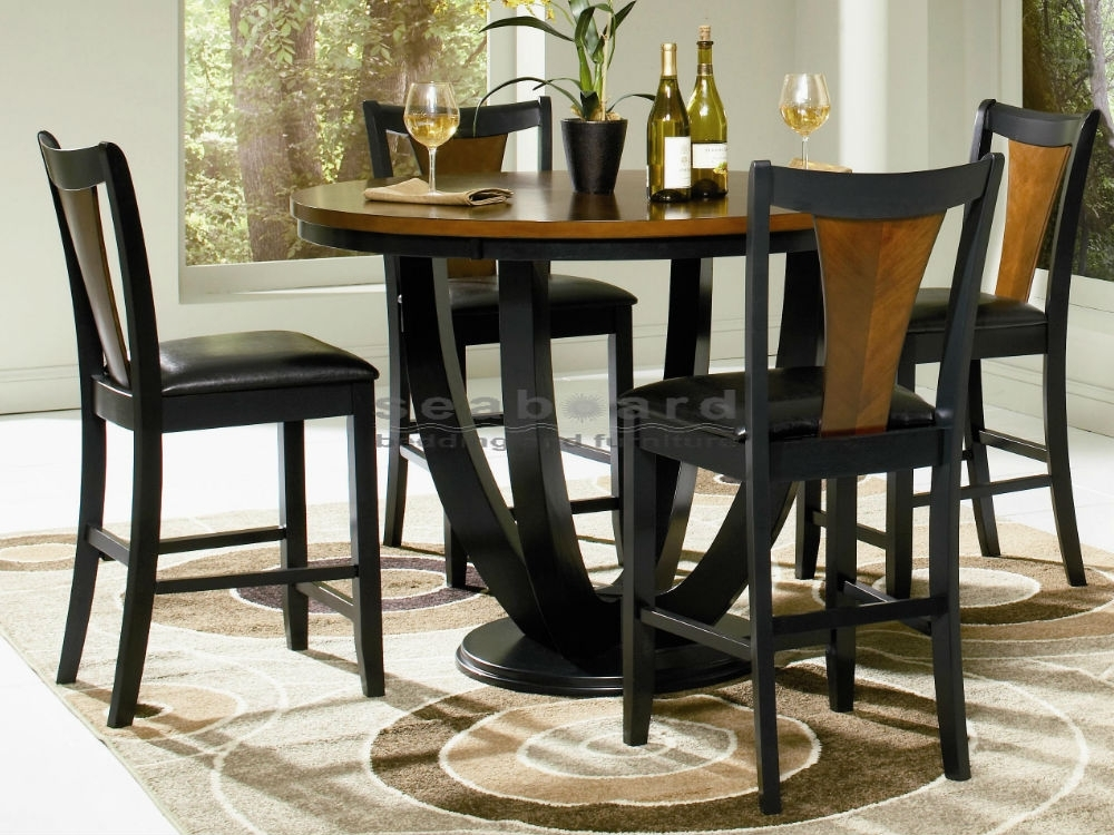 Boyer Two Tone Counter Height Dining Table Set Within Dining Tables And Chairs Sets (View 3 of 25)