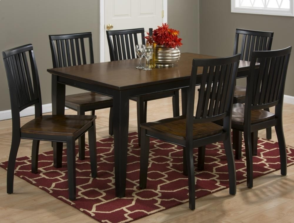 Braden Antique Black Rectangle Dining Table With Six Chairs Within Dining Tables And Six Chairs (Image 6 of 25)