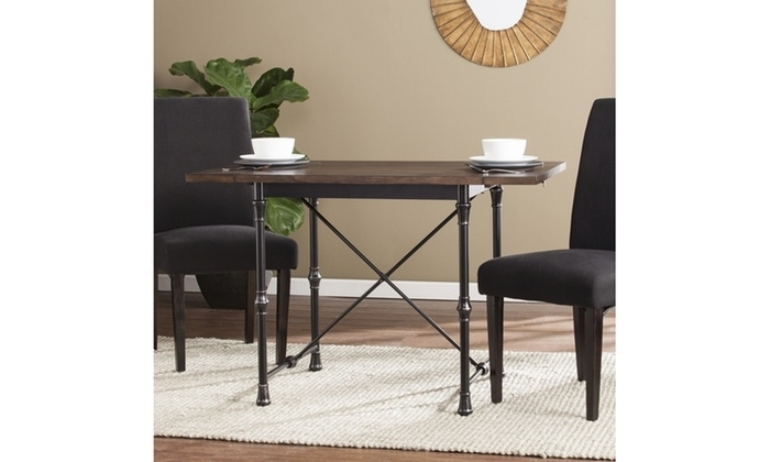 Bradford Industrial/farmhouse Drop Leaf Dining Table | Groupon Throughout Bradford Dining Tables (Image 11 of 25)