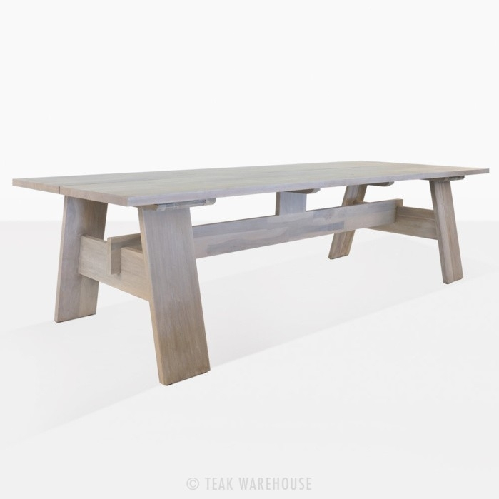 Bradford Outdoor Dining Tables (Aged) | Patio Furniture | Teak Warehouse Intended For Bradford Dining Tables (Image 14 of 25)