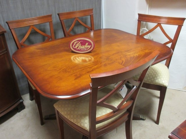 Bradley Furniture – Mahogany Dining Table & 4 Chairs – Clearance Regarding Mahogany Dining Tables And 4 Chairs (View 4 of 25)