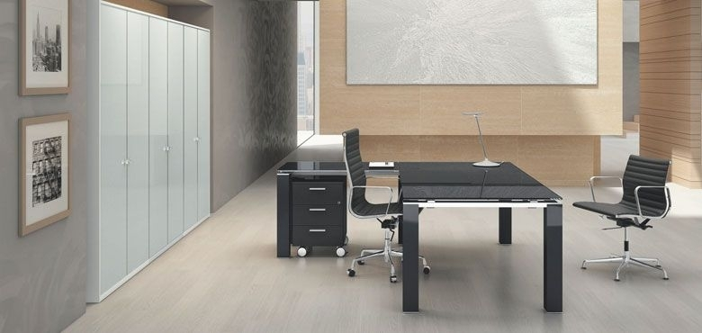 Bralco | Jet Evo | Bralco | Pinterest | Desk, Executive Office Desk With Regard To Ina Pewter 60 Inch Counter Tables With Frosted Glass (Image 7 of 25)
