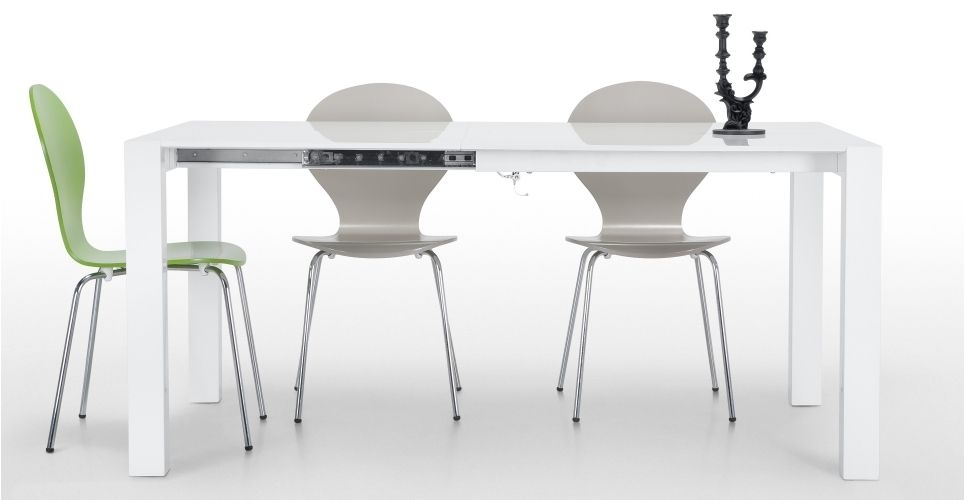 Bramante Square Extending Dining Table In White | Made No Em In White Square Extending Dining Tables (Image 4 of 25)