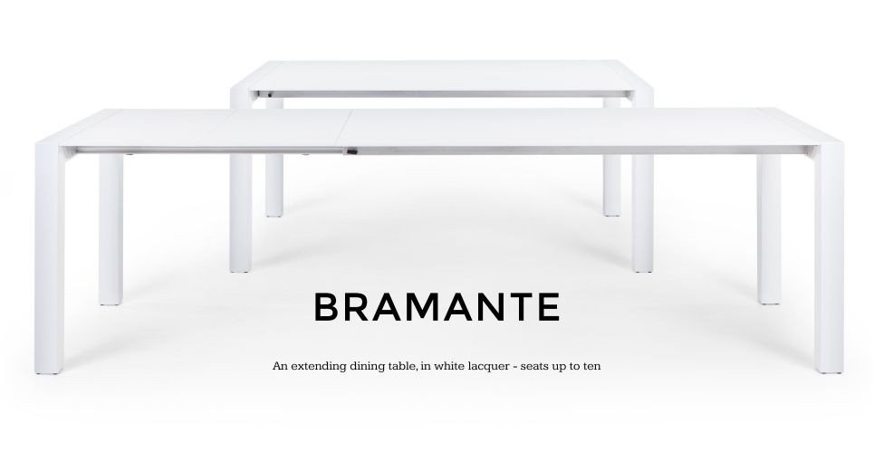 Bramante White Gloss Extending Dining Table | Made 174 X 90 Or In White Extendable Dining Tables (Image 2 of 25)