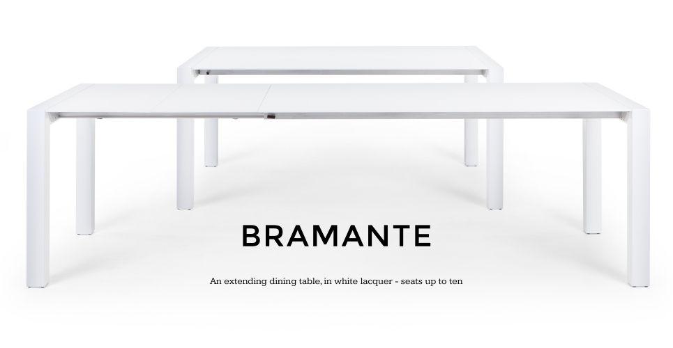 Bramante White Gloss Extending Dining Table | Made 174 X 90 Or In White Extendable Dining Tables (View 17 of 25)