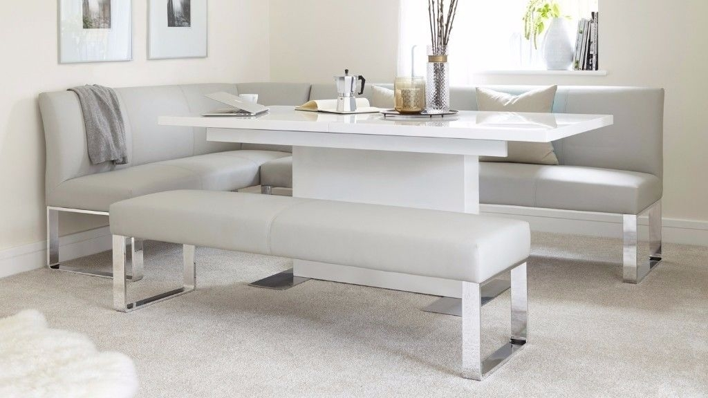 Brand New Danetti Sanza High White Gloss Extending Dining Table Over Within White Gloss Extendable Dining Tables (Image 4 of 25)