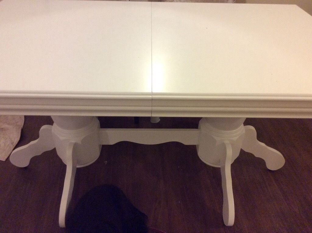 Brand New White Extending Chatsworth Dining Table In White | In Regarding Chatsworth Dining Tables (Image 3 of 25)