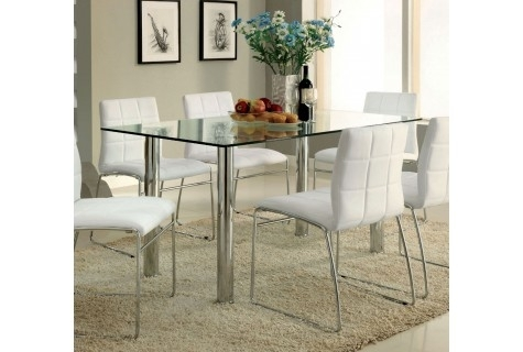 Brands : Oahu, Collection: Oahu With Palazzo 7 Piece Dining Sets With Pearson Grey Side Chairs (Image 11 of 25)